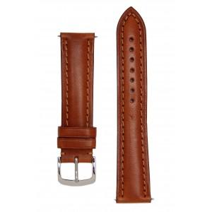Светло-коричневый гладкий ремешок для часов c утолщением к корпусу часов