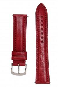 Красный гладкий ремешок для часов c утолщением к корпусу часов