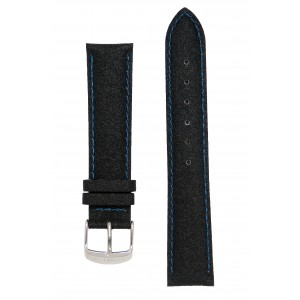 Черный с синей строкой прорезиненный ремешок J.A.Willson