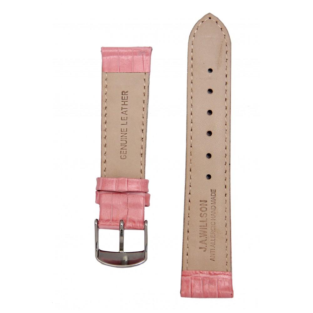 Ремень для часов имитация аллигатора розовый. Willson