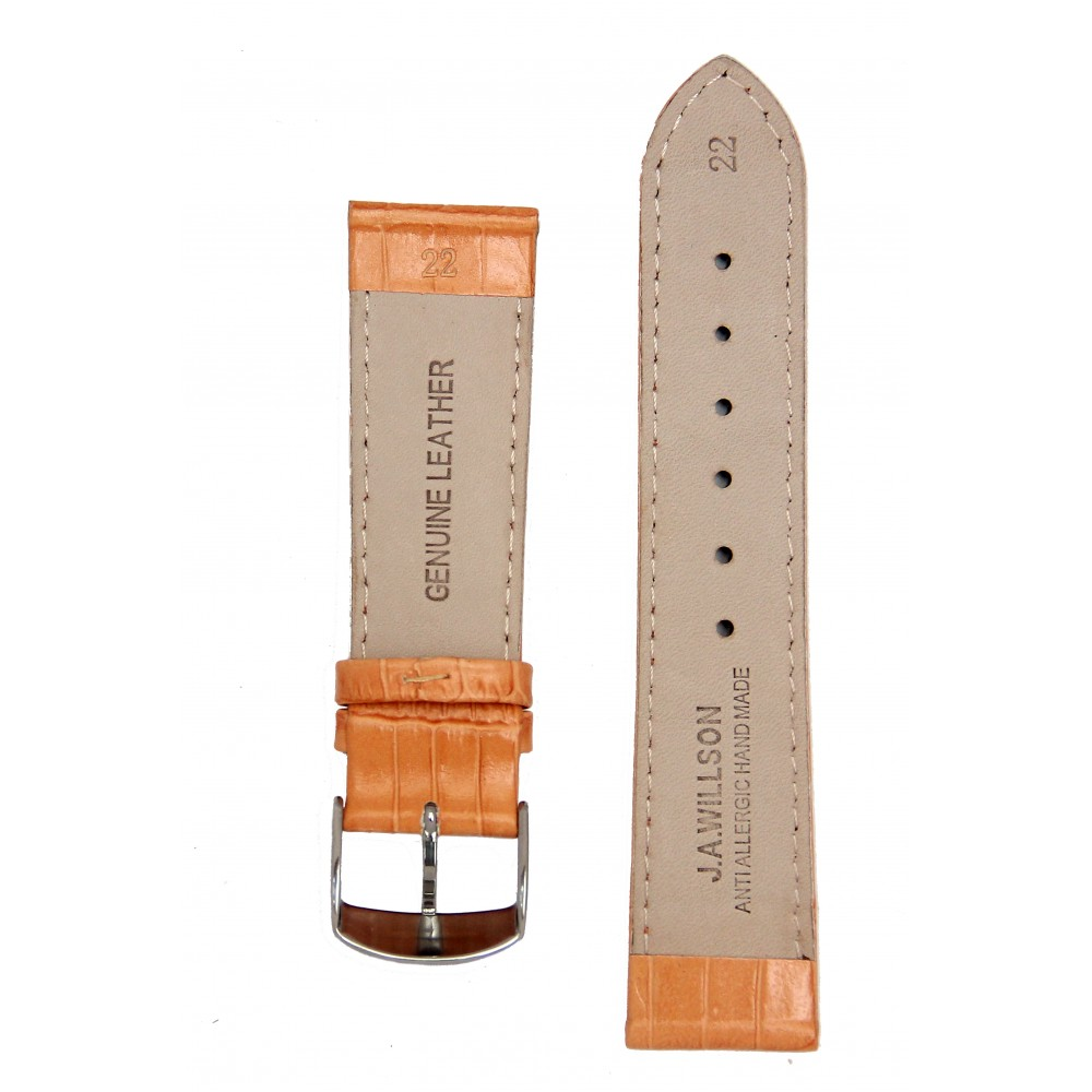 Ремень для часов имитация аллигатора оранжевый. Willson