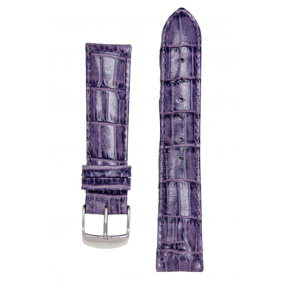 Ремень для часов имитация аллигатора фиолетовый. Willson