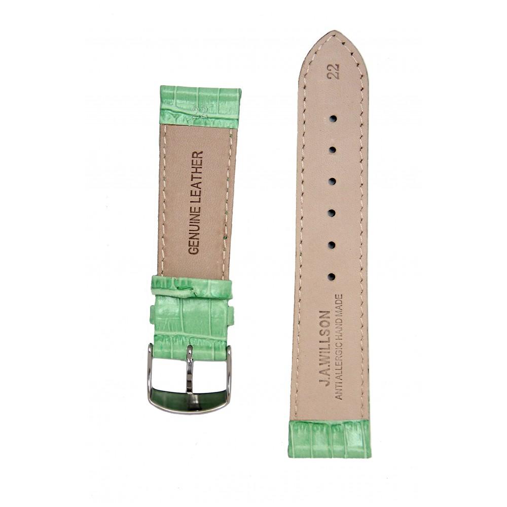 Ремень для часов имитация аллигатора зеленый. Willson
