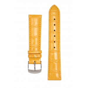 Ремень для часов имитация аллигатора желтый. Willson