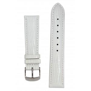 Белый ремешок для часов с имитацией варана. Willson.