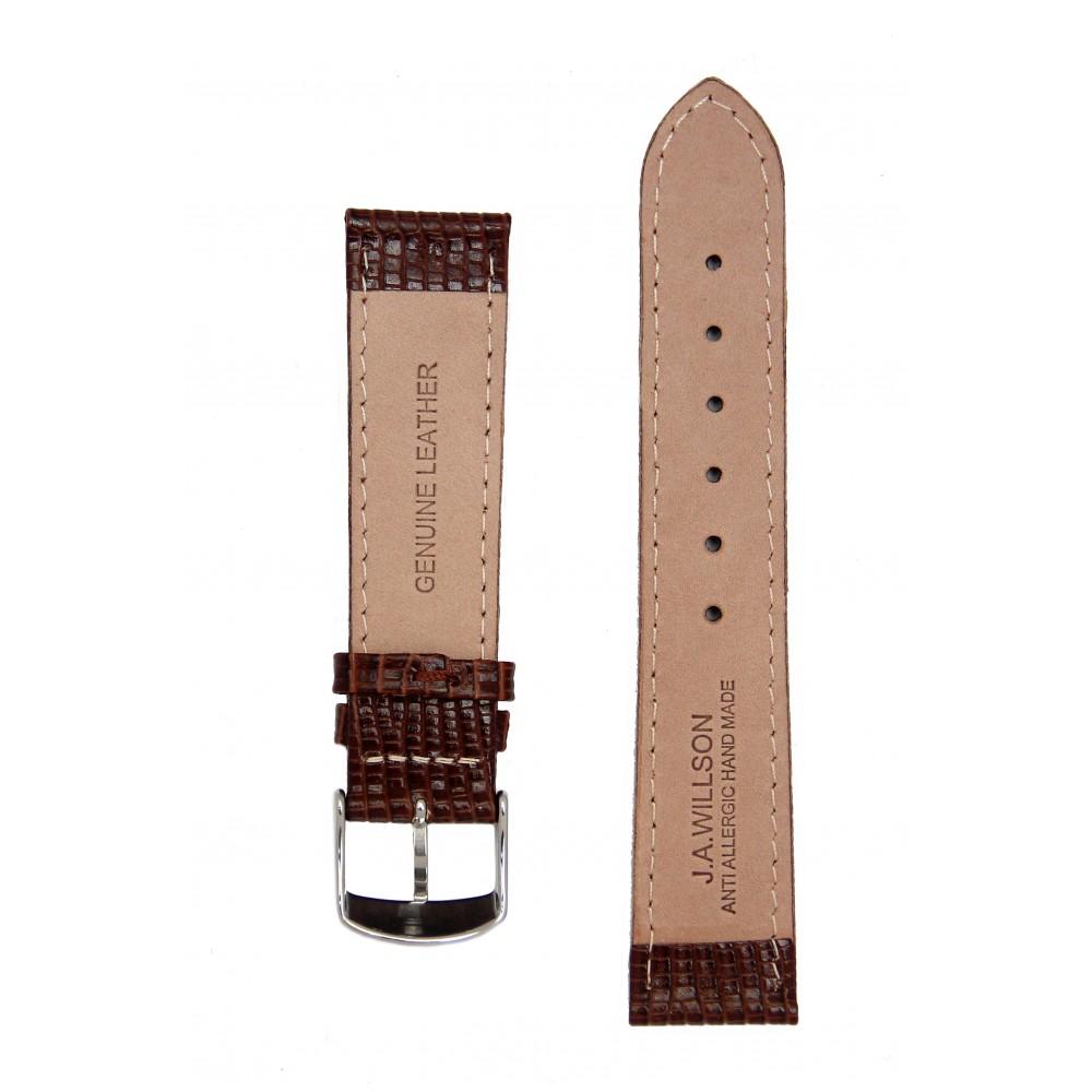 Тёмно-коричневый ремешок для часов с имитацией варана. Willson.