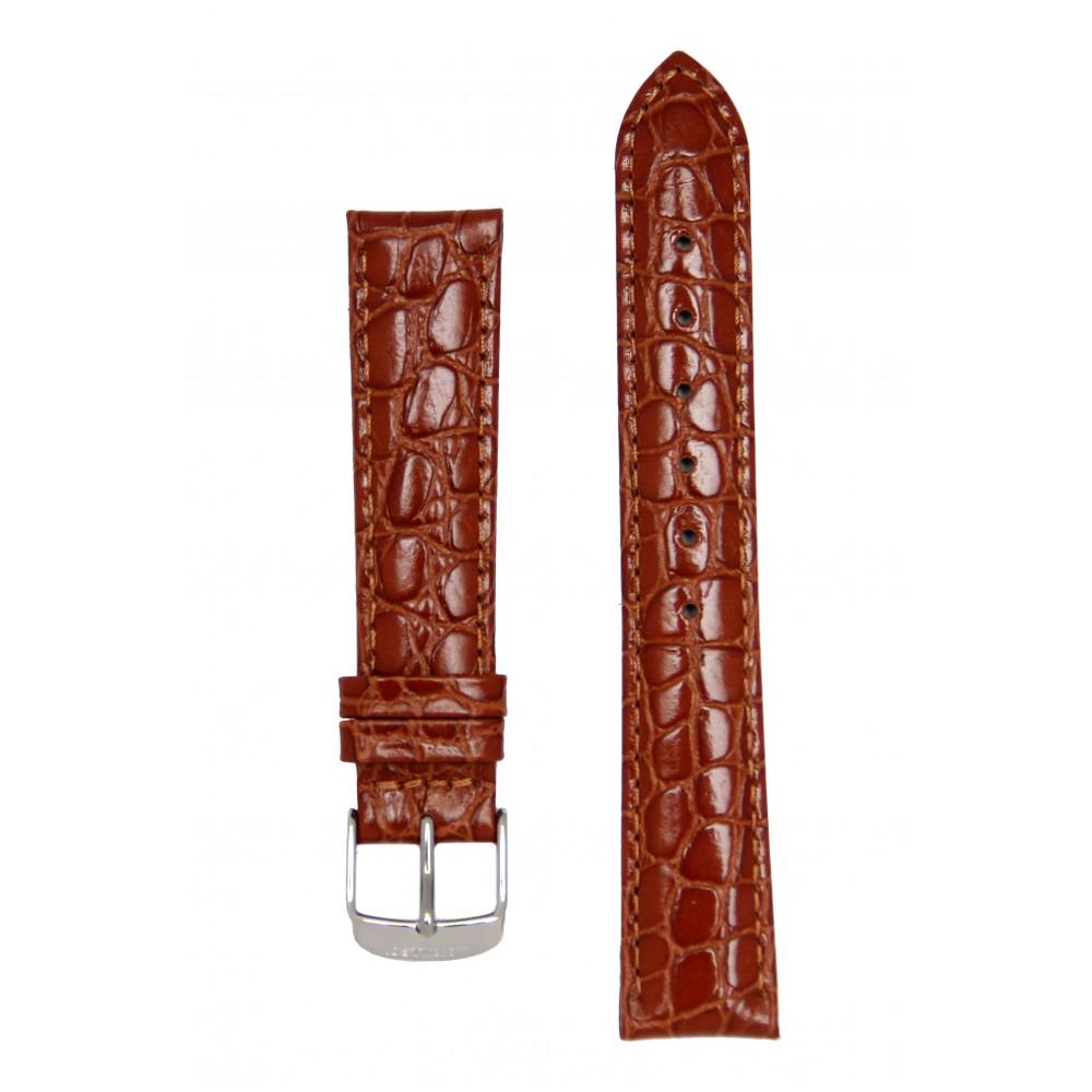 Светло-коричневый ремешок для часов с имитацией крокодила. Willson.