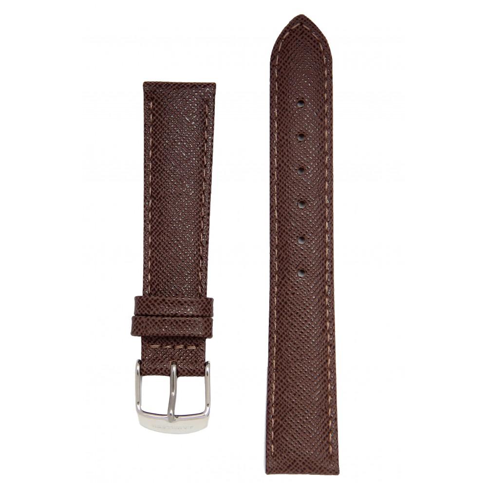 Сафьяновый коричневый ремешок для часов. Willson.
