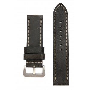 Черный винтажный ремешок в стиле часов Panerai