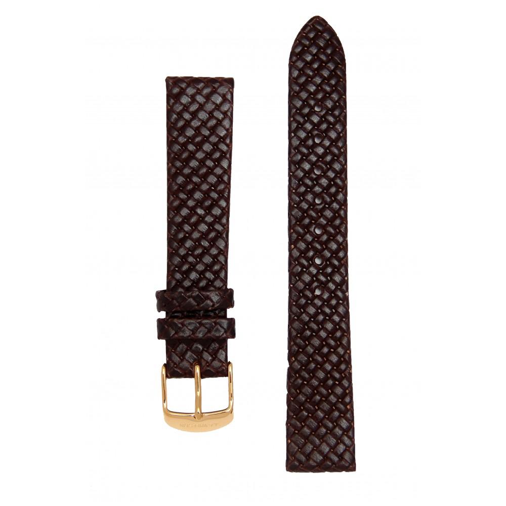 Коричневый плетеный кожаный ремешок. Willson