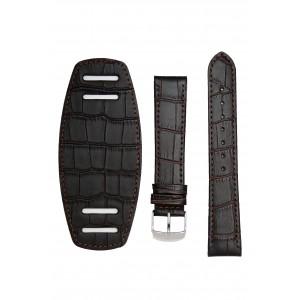 Темно-коричневый ремешок с подложкой под часы. имитация аллигатора Willson