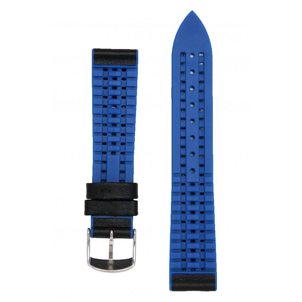 Черный с синим высокотехнологичный ремешок с подложкой из каучука. Willson