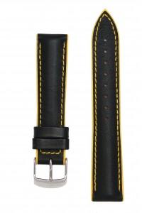 Черный с желтым ремешок с подложкой из каучука. Willson