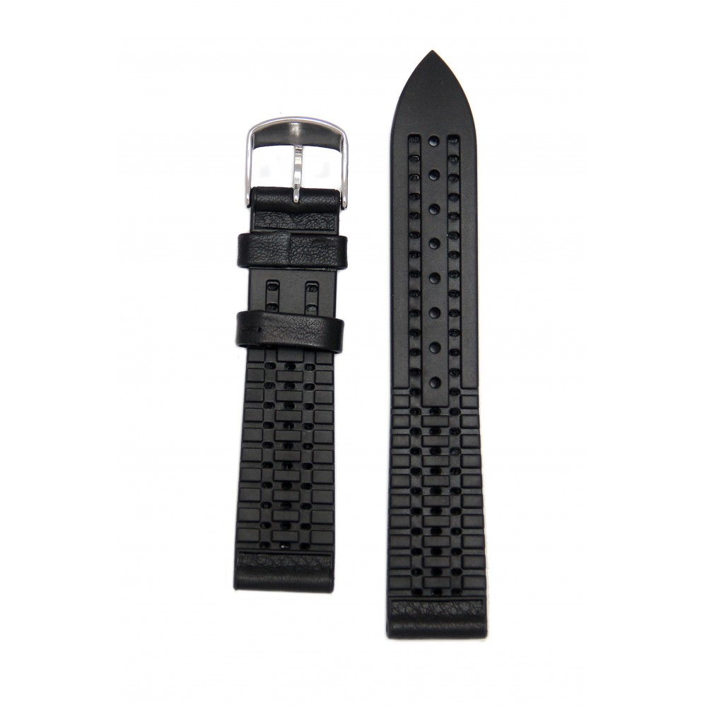 Черный высокотехнологичный ремешок с подложкой из каучука. Willson